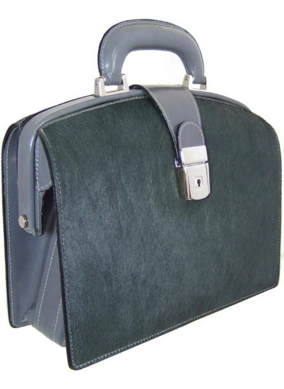 Pratesi Miss Brunelleschi Cavallino Lady Bag in real leather - Cavallino Grey
