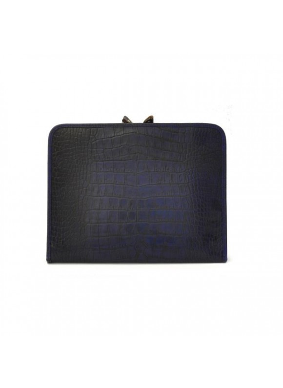 Pratesi Dante King Notes Holder in cow leather - King Blue