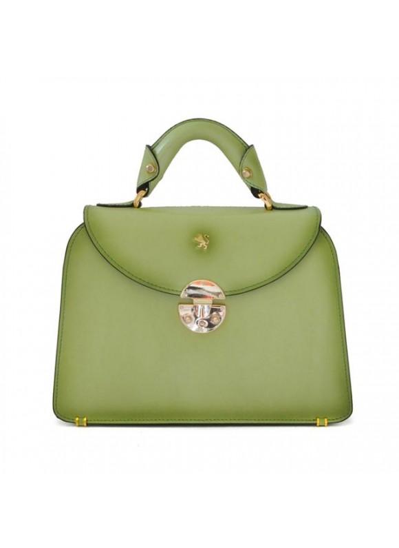 Pratesi Veneziano Small Santa Croce Handbag in real leather - Santa Croce Green