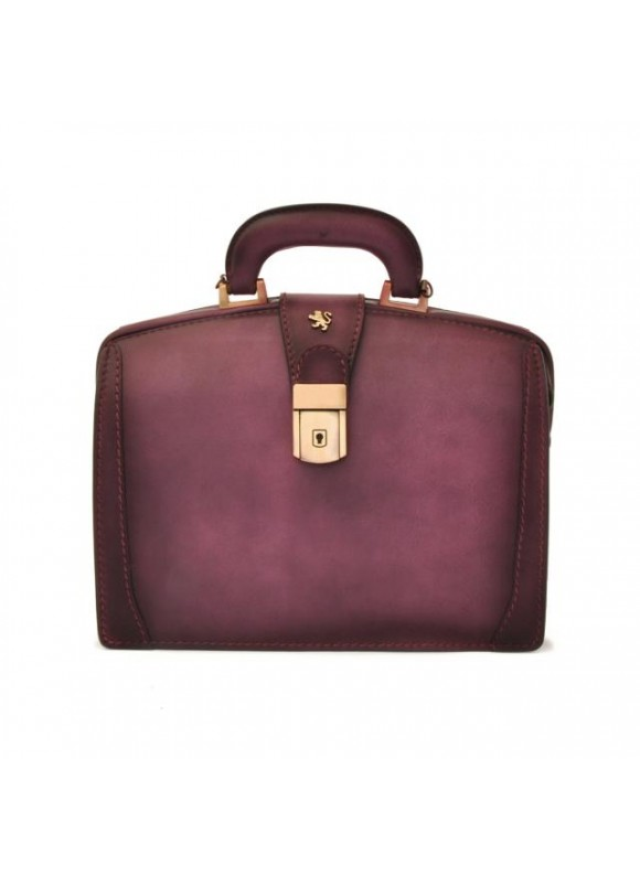 Pratesi Handbag Miss Brunelleschi Bruce in cow leather - Bruce Violet