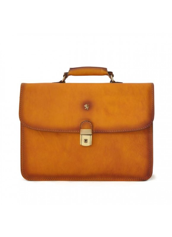 Pratesi Briefcase Cerreto Guidi in cow leather - Bruce Cognac