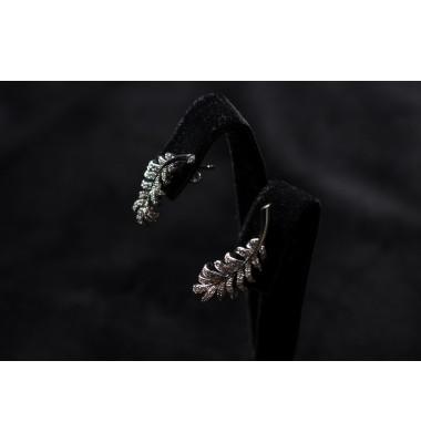 Серьги дизайнерские с бриллиантами Каннская  Ветвь