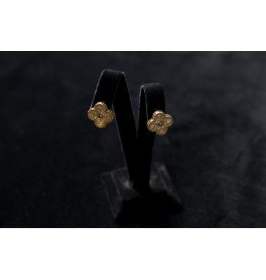Серьги дизайнерские с бриллиантами  Желтый Цветок