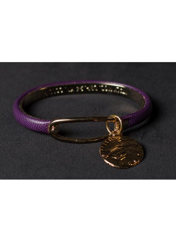 Браслет кожанный с медальйоном