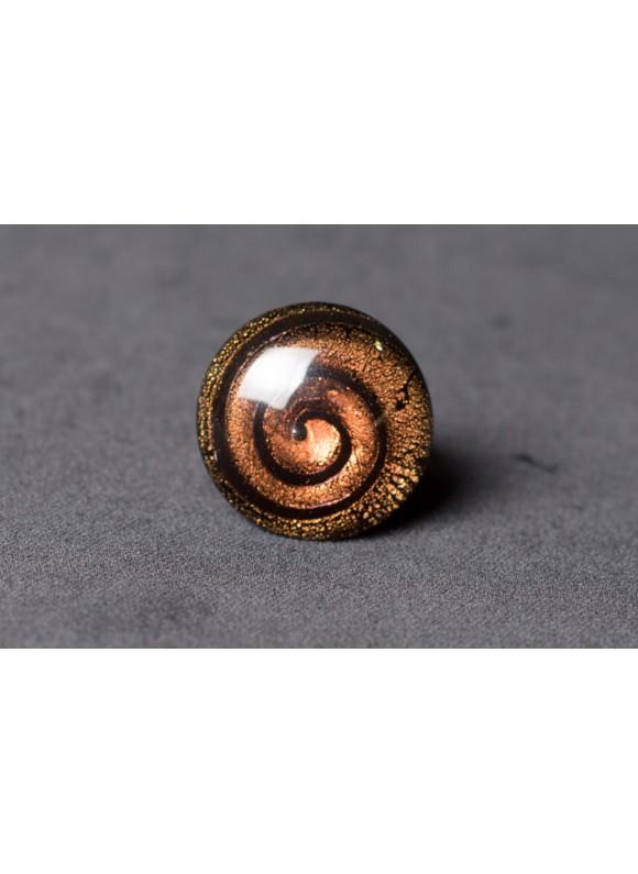 Кольцо из муранского стекла коричневое