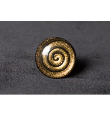Кольцо из муранского стекла золото