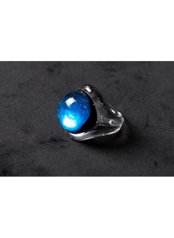Кольцо из муранского стекла синее