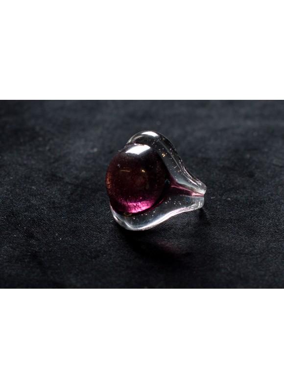 Кольцо из муранского стекла фиолет