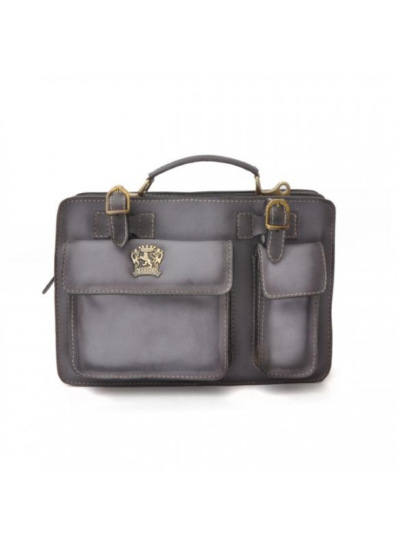 Pratesi Business Bag Milano Small in cow leather - Bruce Grey