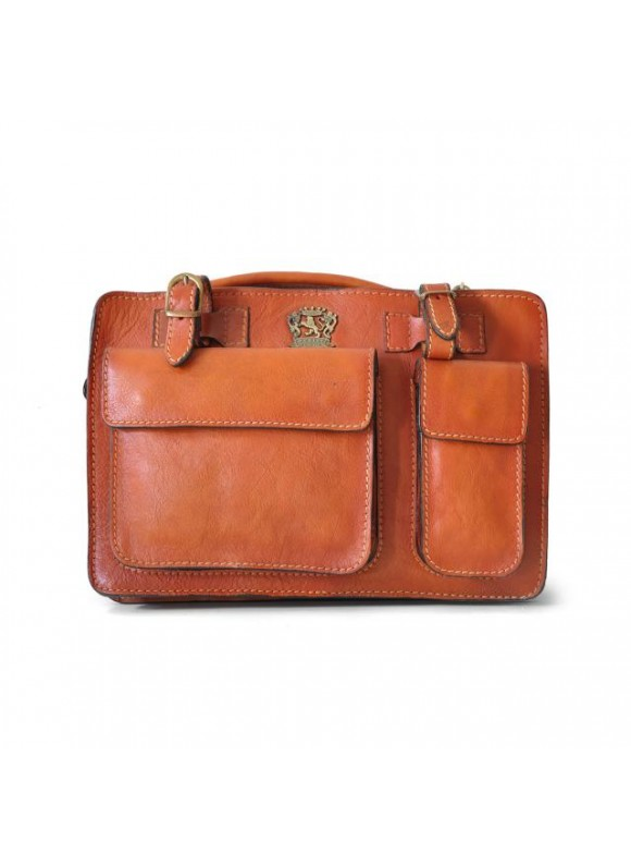 Pratesi Business Bag Milano Small in cow leather - Bruce Orange