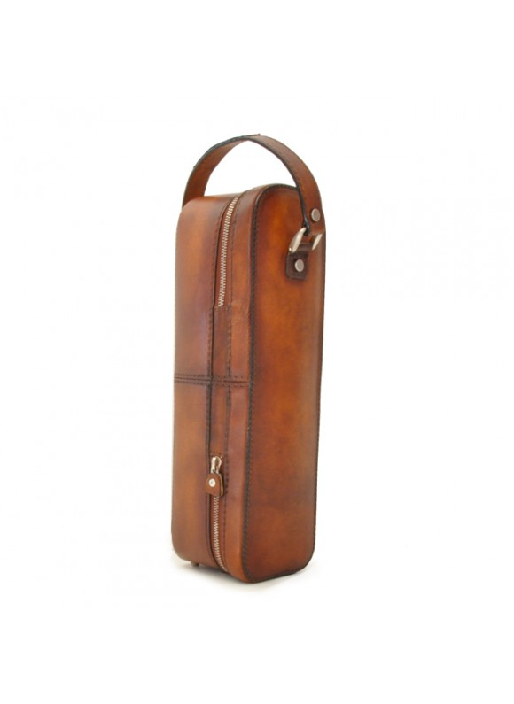 Pratesi Bacco Bruce Bottle Holder in cow leather - Bruce Brown