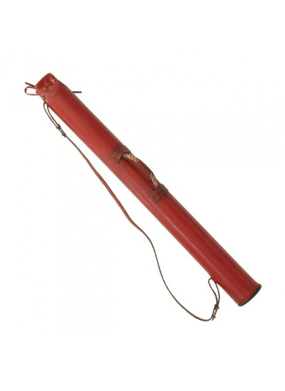 Pratesi Project Holder in cow leather - Bruce Cherry