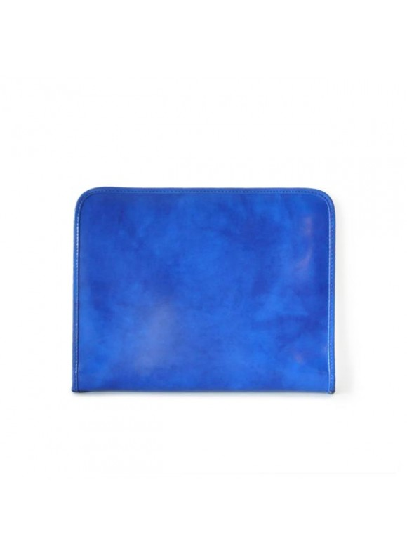 Pratesi Dante R Portfolio for Notes in cow leather - Radica Electric Blue