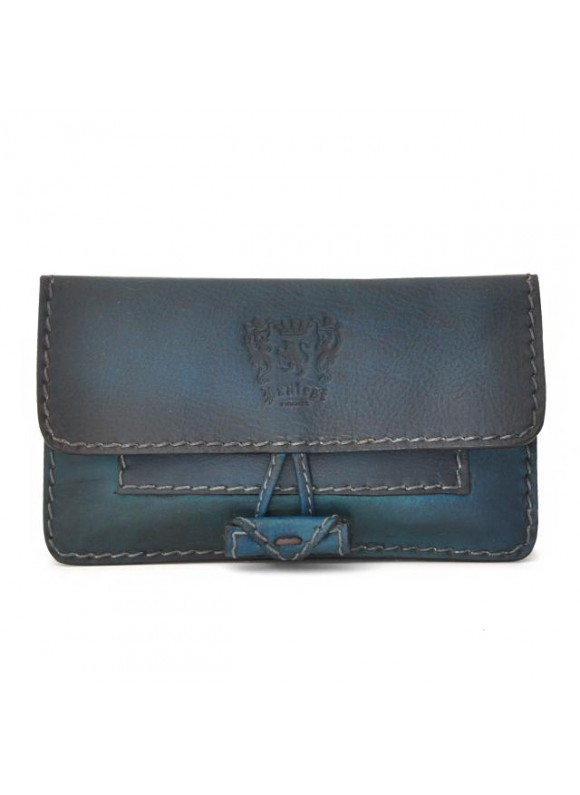 Pratesi Tabacco Holder in cow leather - Bruce Blue