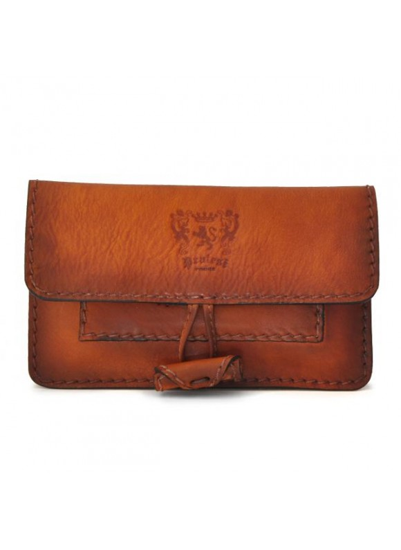 Pratesi Tabacco Holder in cow leather - Bruce Cognac