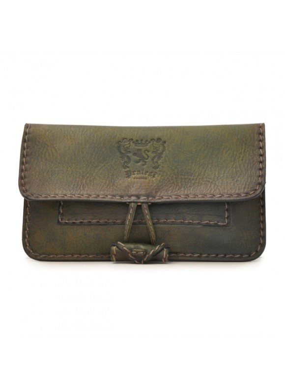 Pratesi Tabacco Holder in cow leather - Bruce Dark Green