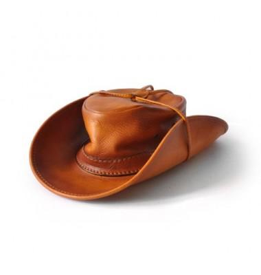 Pratesi Cagliostro Hat 57 cm in cow leather - Bruce Cognac