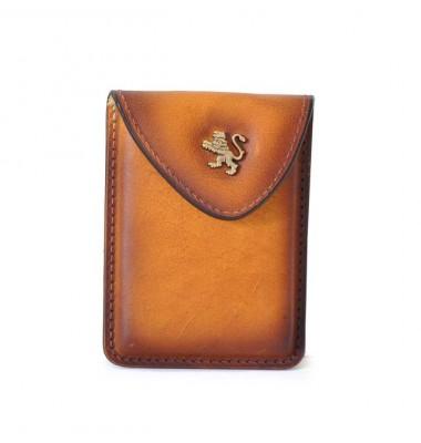 Pratesi Cardholder in cow leather - Bruce Cognac