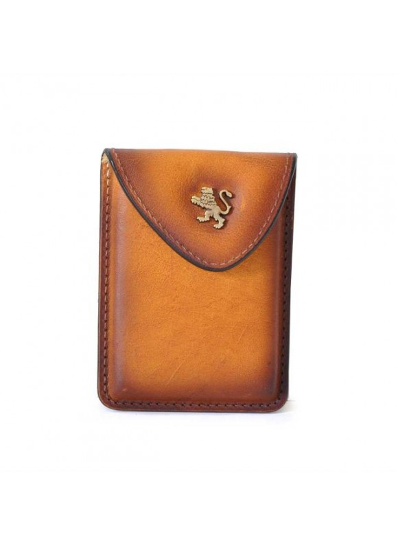Pratesi Cardholder in cow leather - Bruce Cognac