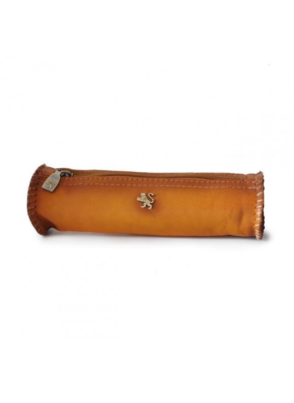 Pratesi Pencilcase in cow leather 096 - Bruce Cognac