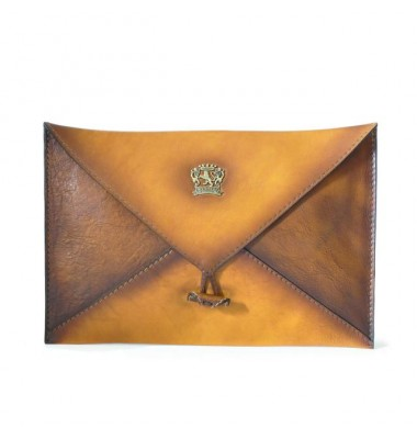 Pratesi Envelope case in cow leather 099 - Bruce Cognac