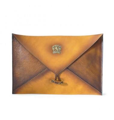 Pratesi Envelope case in cow leather 099 - Bruce Cognac