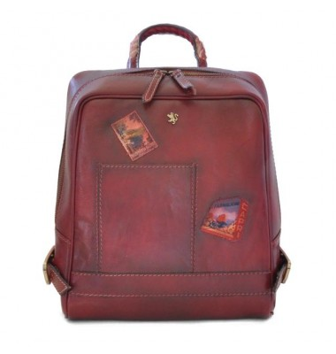 Pratesi Firenze Laptop Backpack in cow leather - Bruce Chianti