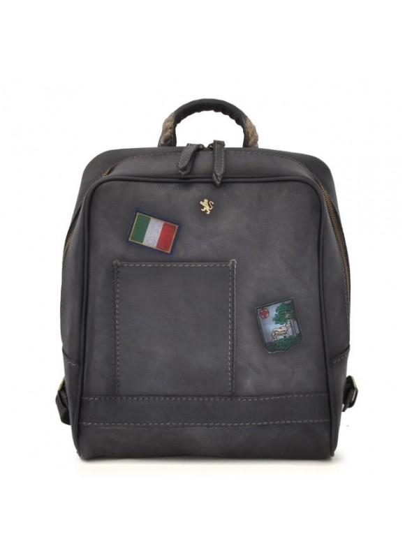 Pratesi Firenze Laptop Backpack in cow leather - Bruce Grey