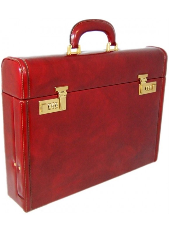 Pratesi Ghirlandaio Briefcase in cow leather - Radica Chianti