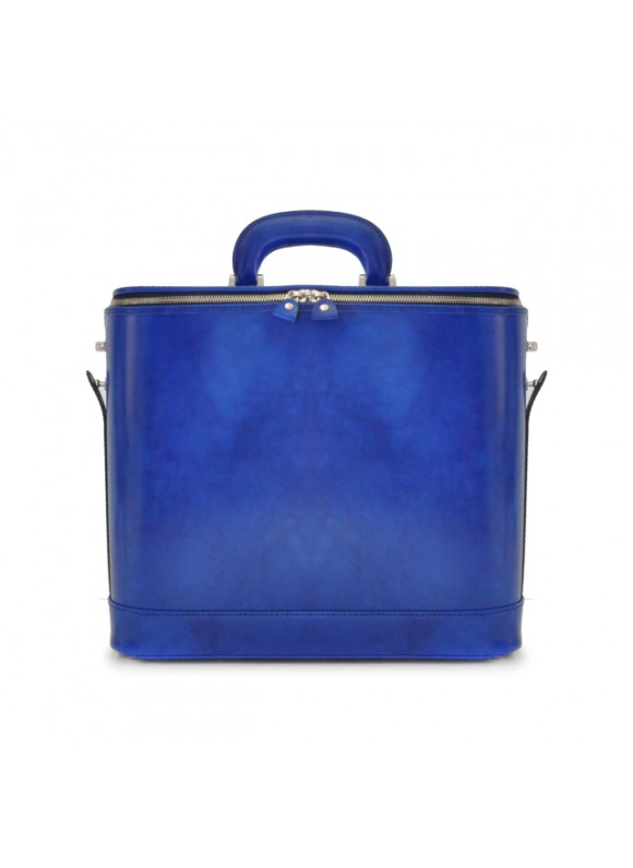 Pratesi Raffaello Laptop Bag 15 in cow leather - Radica Electric Blue