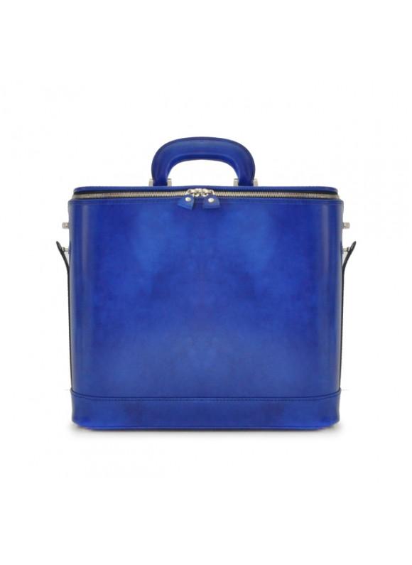 Pratesi Raffaello Laptop Bag 15 in cow leather - Radica Electric Blue