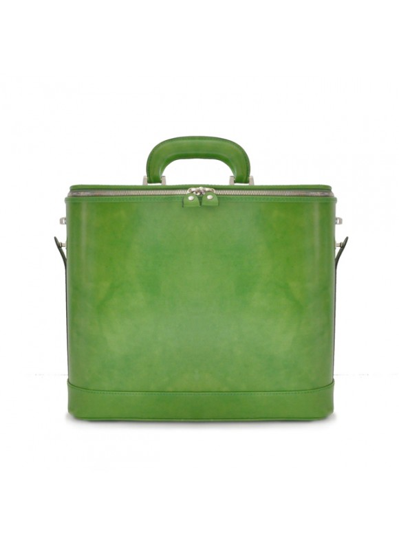 Pratesi Raffaello Laptop Bag 15 in cow leather - Radica Green