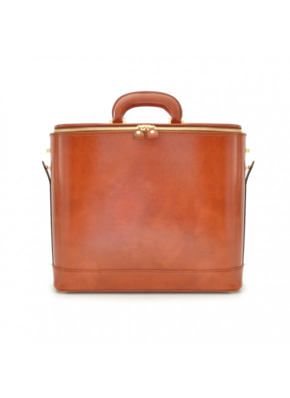 Pratesi Raffaello Laptop Bag 15 in cow leather - Radica Brown