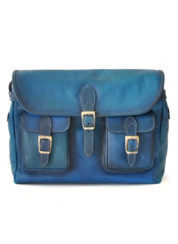 Pratesi Cross-Body Bag Maremma in cow leather - Bruce blue