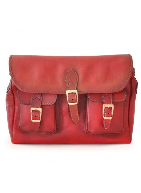Pratesi Cross-Body Bag Maremma in cow leather - Radica Cherry