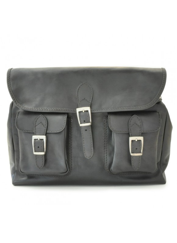 Pratesi Cross-Body Bag Maremma in cow leather - Bruce Black