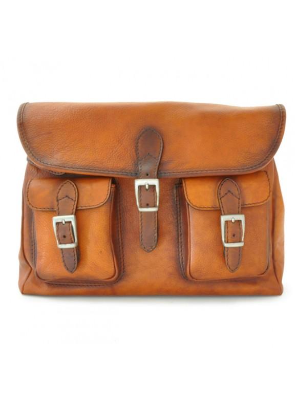 Pratesi Cross-Body Bag Maremma in cow leather - Bruce Cognac