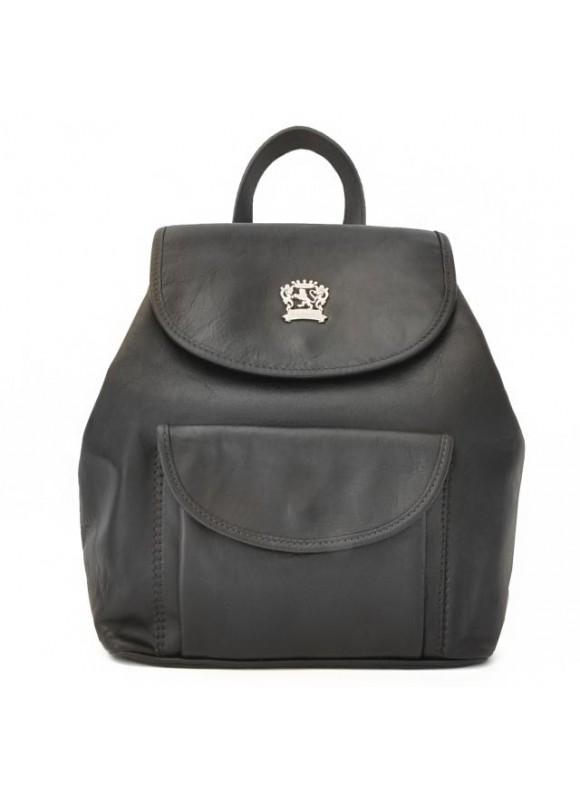 Pratesi Gaville Backpack in cow leather - Bruce Black