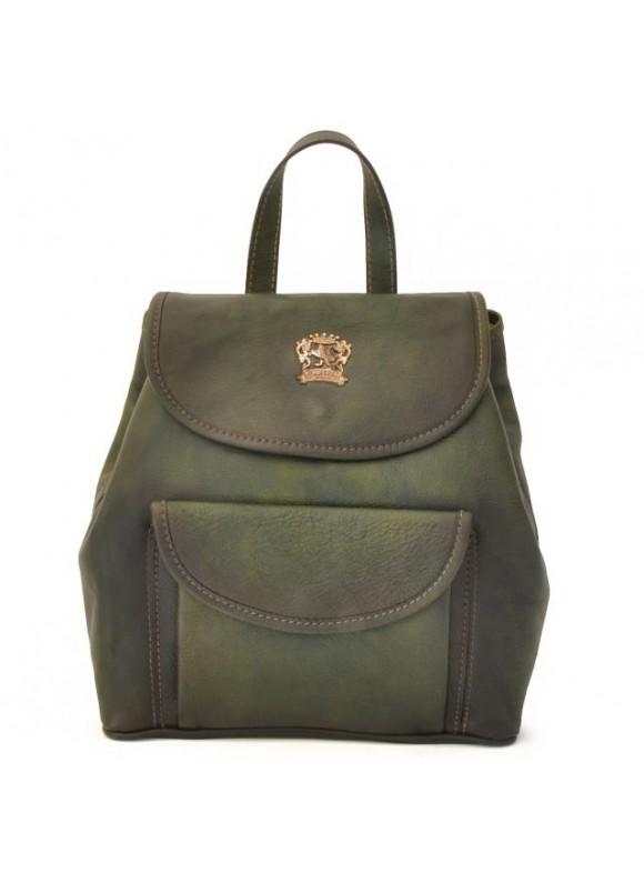 Pratesi Gaville Backpack in cow leather - Bruce Dark Green