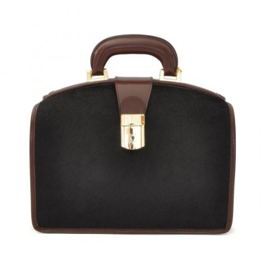 Pratesi Miss Brunelleschi Cavallino Lady Bag in real leather - Cavallino Coffee