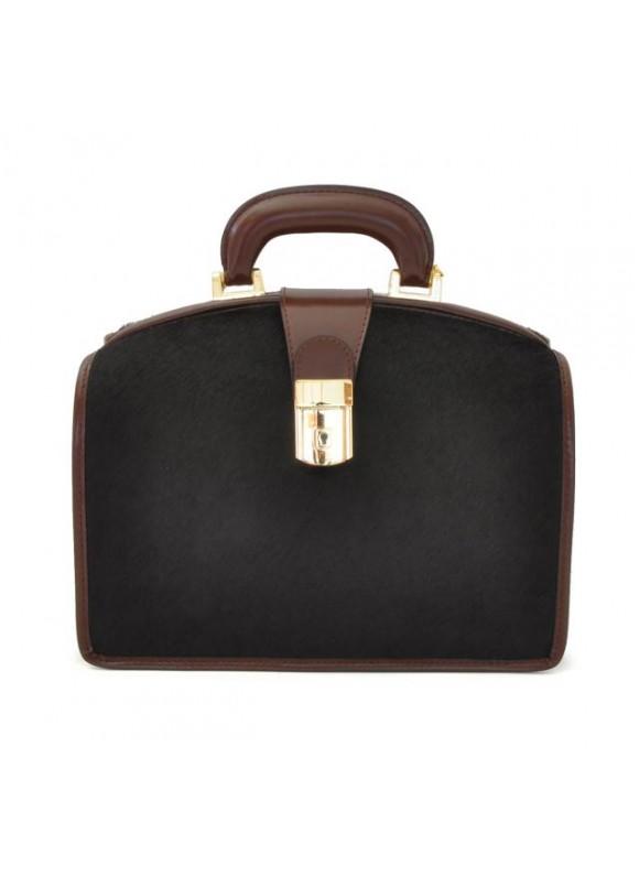 Pratesi Miss Brunelleschi Cavallino Lady Bag in real leather - Cavallino Coffee