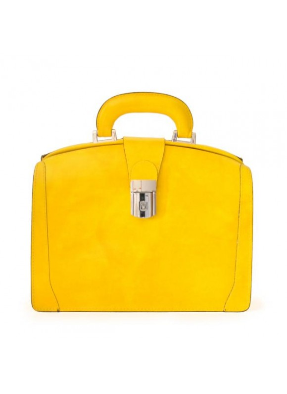Pratesi Miss Brunelleschi Bag in cow leather - Radica Yellow