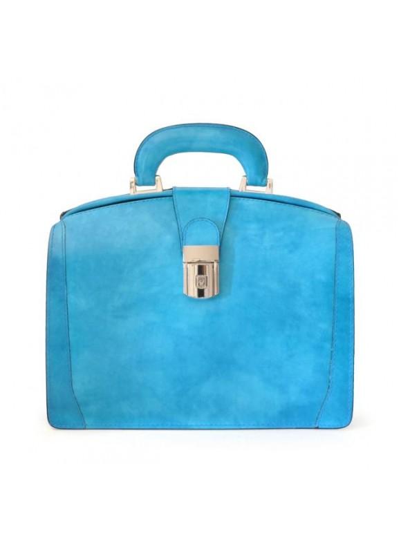 Pratesi Miss Brunelleschi Bag in cow leather - Radica Sky-Blue