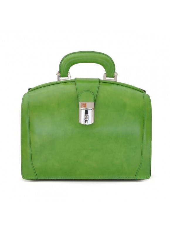 Pratesi Miss Brunelleschi Bag in cow leather - Radica Green