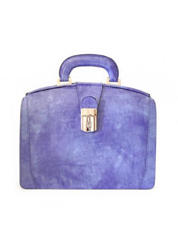 Pratesi Miss Brunelleschi Bag in cow leather - Radica Violet