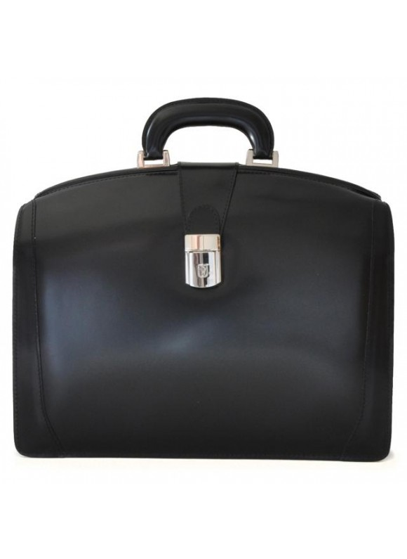 Pratesi Brunelleschi Medium Briefcase in cow leather - Radica Black