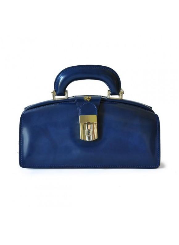 Pratesi Lady Brunelleschi Bag in cow leather - Radica Blue
