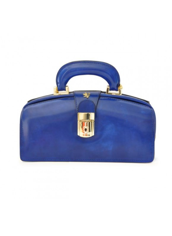 Pratesi Lady Brunelleschi Bag in cow leather - Radica Electric Blue