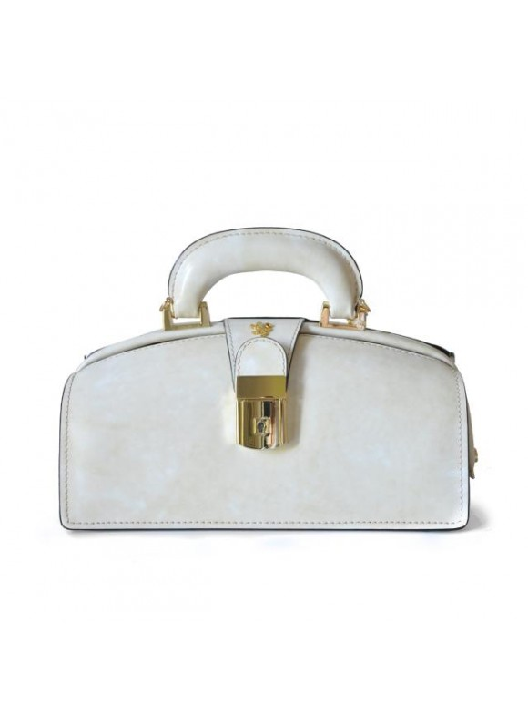 Pratesi Lady Brunelleschi Bag in cow leather - Radica White