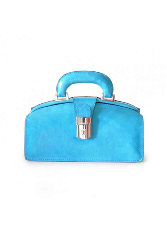 Pratesi Lady Brunelleschi Bag in cow leather - Radica Sky-Blue
